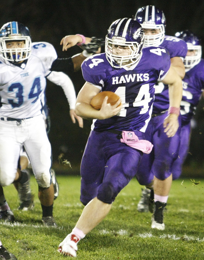 Brett Gerry had his playing time substantially reduced because Marshwood used reserves in the second half of blowouts. But still … a school-record 2,225 yards rushing and an eye-popping 12.3 yards per carry.