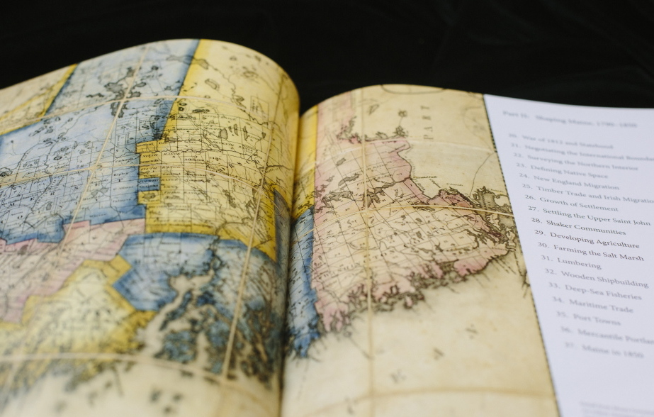 """One of the main differences in the """"Historical Atlas of Maine"""" is the volume of maps and how each has reams of specific data behind it."""