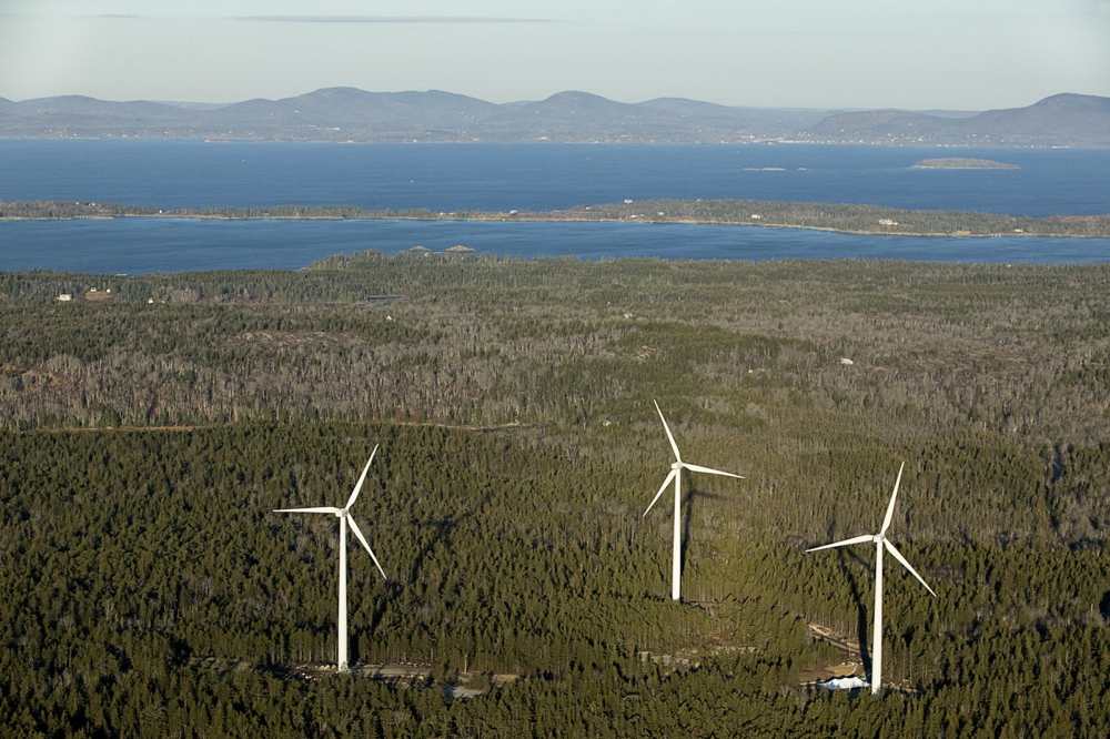 Neighbors have said they would like to limit the operation of three wind turbines on Vinalhaven during certain wind conditions in an effort to reduce noise.