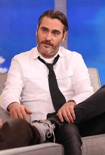 "Actor Joaquin Phoenix appears on ""Good Morning America"" on Tuesday, and says he is not ready to get married."