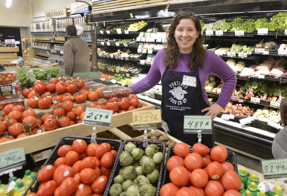 "Mary Alice Scott, education and outreach coordinator at the Portland Food Co-op, says, ""We're here to serve the community and not just sell food."""
