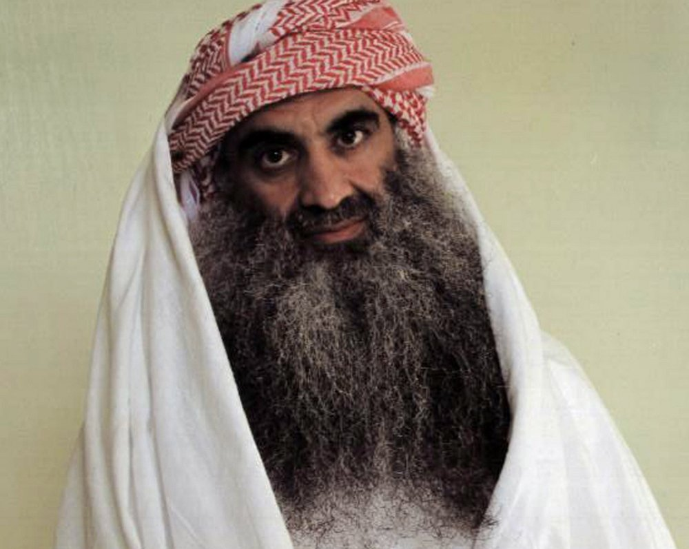 Khalid Sheik Mohammed, the accused mastermind of the Sep. 11 attacks, is purportedly shown in this photo from the Internet site www.muslm.net.