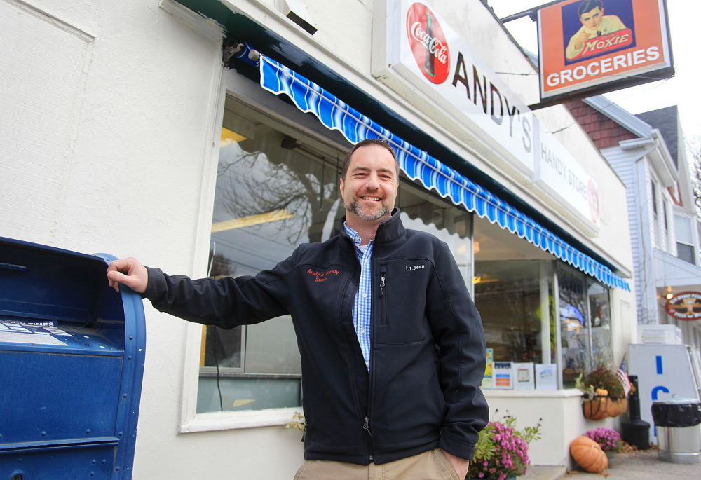 "Matt Williams, who bought Andy's Handy Store in Yarmouth in 2013 and is now selling it, says he likes the new owners' plans for the store. ""It's going to be fantastic,"" he said."