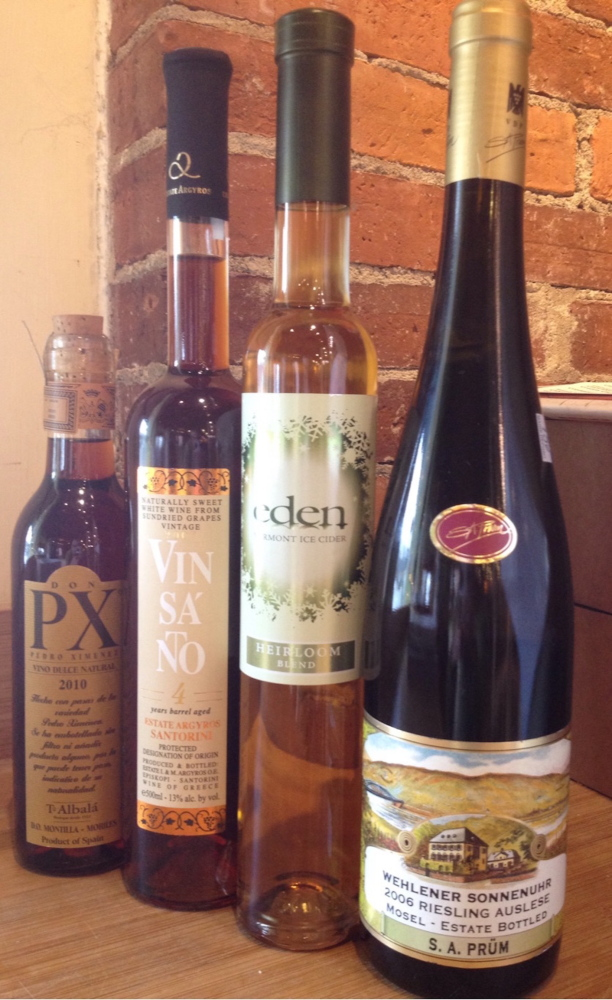 Wines and cider with some sweetness are not necessarily meant to be imbibed with dessert.