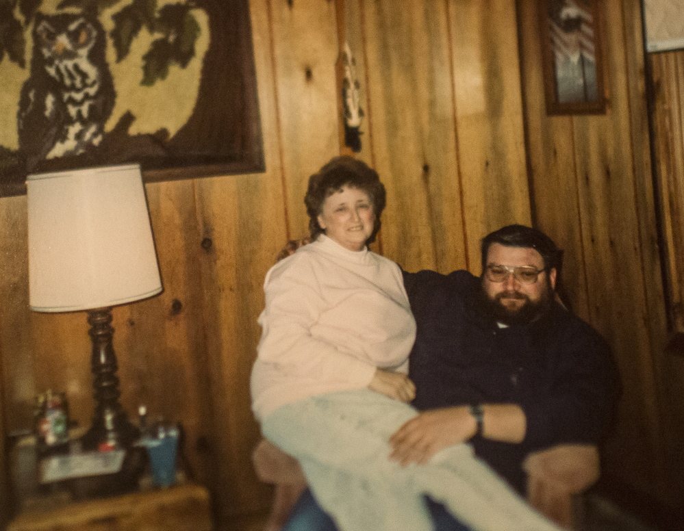 An early 1990s photo shows Ginger and Ray Hutchins shortly after they married. Authorities say the Gouldsboro couple died in a murder-suicide. Ray Hutchins had been his wife's longtime caregiver.