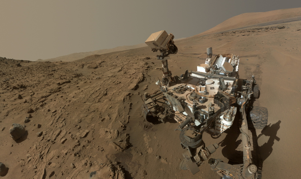 NASA's Curiosity rover, which is equipped with sensory-sensitive lab equipment, takes a self-portrait in June 2014.