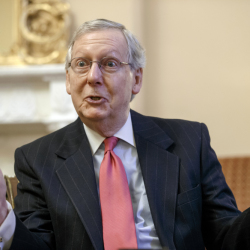 """Incoming Senate Majority Leader Mitch McConnell, R-Ky., talks about his agenda in an interview with The Associated Press. The Environmental Protection Agency """"has created a depression in my state and it's done a lot of damage to the country ... with these efforts to essentially eliminate coal-fired generation,"""" he said."""