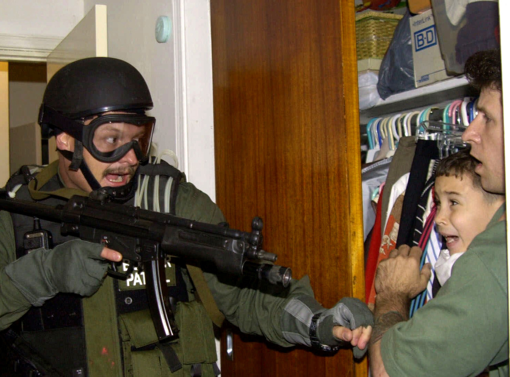 Elian Gonzalez is seized in Miami in 2000 and returned to Cuba.