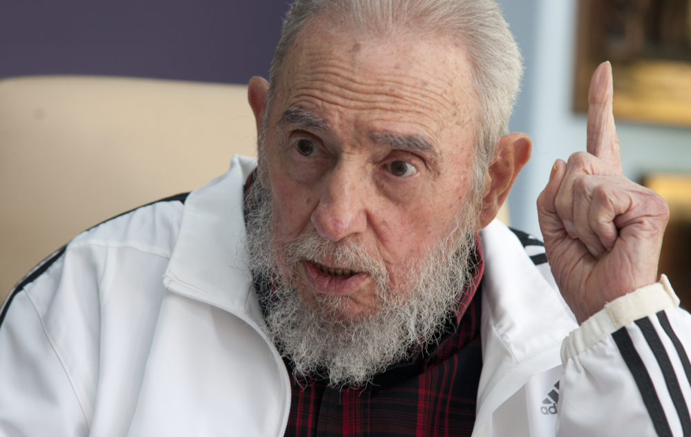 Fidel Castro, shown in July, has made no public comment about Wednesday's announcement that the U.S. and Cuba will restore diplomatic relations after more than 50 years of hostility.
