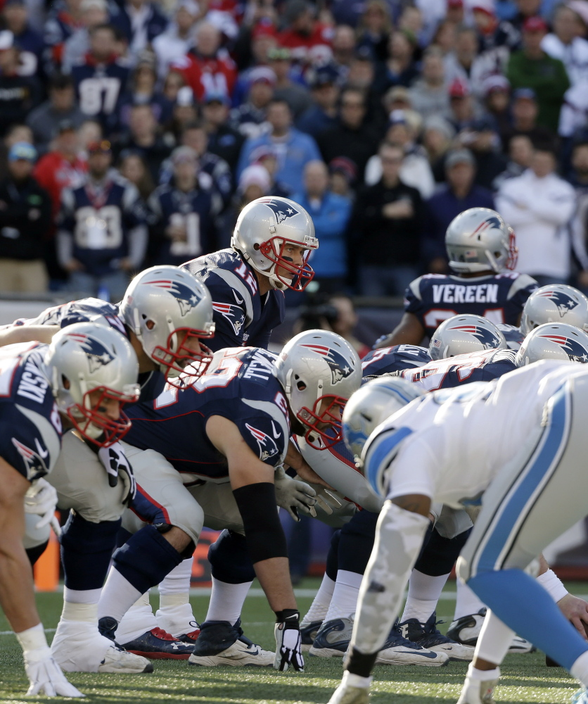 Patriots quarterback Tom Brady struggled early this season when he was often under heavy pressure from opposing defenses, but improved play from the offensive line has helped Brady and New England's offense get on a roll.