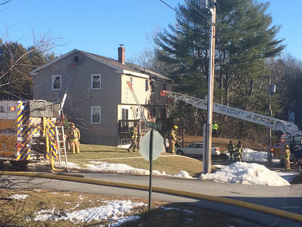 Crews from multiple towns responded to the fire.