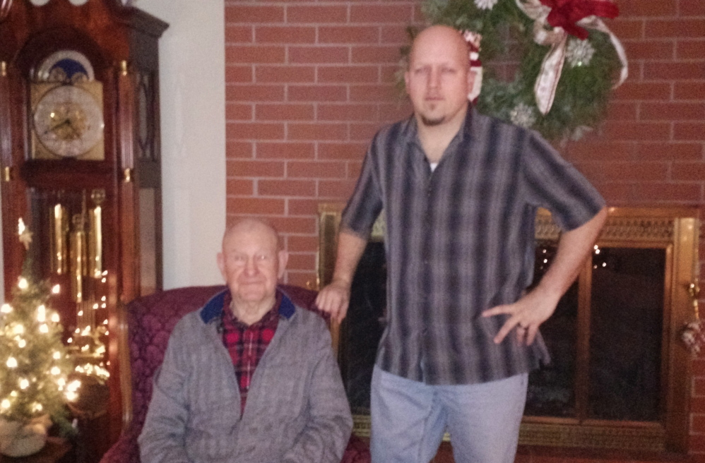 "Sanford residents Clarence ""Mike"" Hall, left, and Brian Turner bond over their military service. Hall served in World War II and the Gulf War."