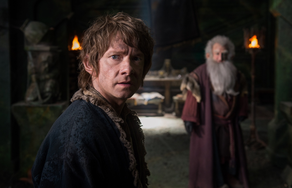"Martin Freeman appears in ""The Hobbit: The Battle of the Five Armies."" Warner Bros./"