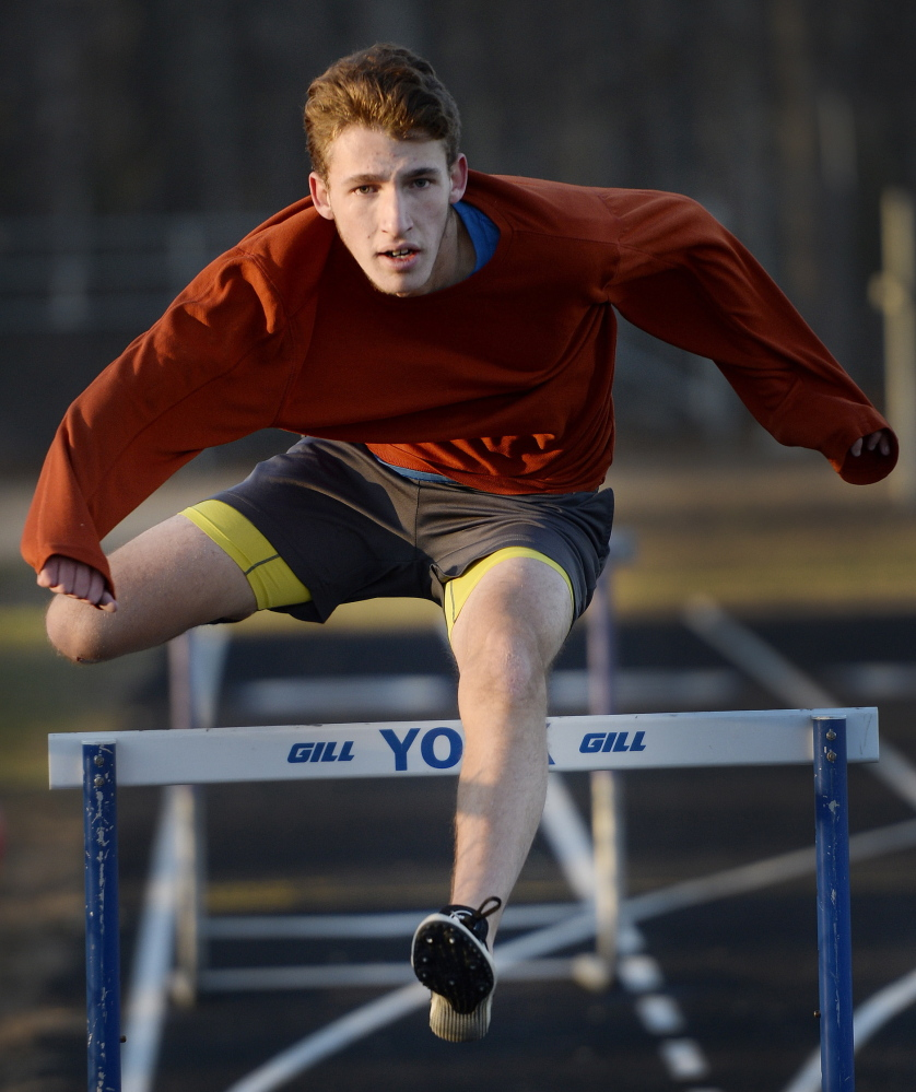 Matt Arsenault of York was third in the 55-meter hurdles at the Class B state meet last season and figures to be in contention again. The Wildcats have won two of the past three state titles.