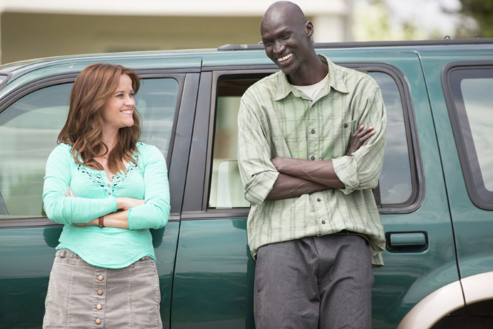 "Reese Witherspoon and Corey Stoll in ""The Good Lie."""