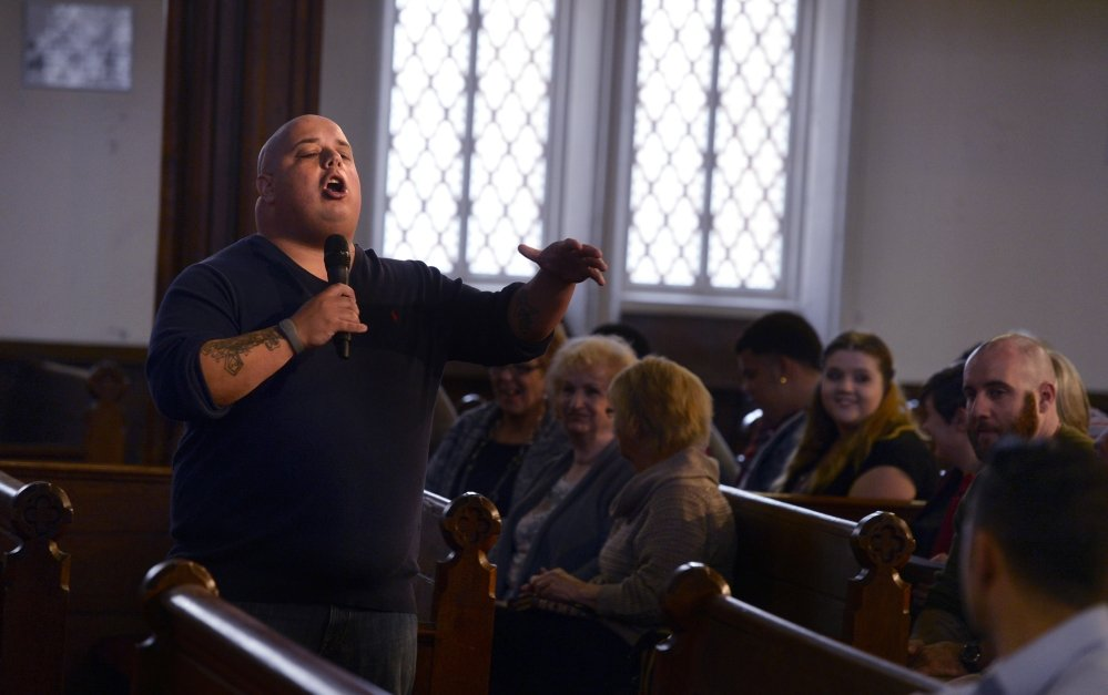 Pastor James Levesque of the Engaging Heaven Church in New London, Conn., started his church in 2009 in a Masonic Street storefront with a handful of followers. The growing church, however, is buying an 1850s-era First Congregational Church in the city.