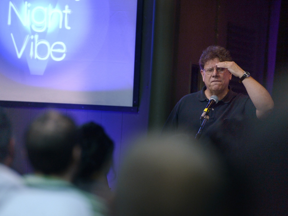 """Joe Paskewich, the lead pastor of New London's Calvary Church, leads a Bible study group called """"Sunday Night Vibe"""" that is geared to teenagers and young adults."""
