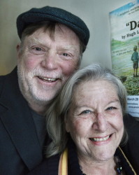 "Tony and Susan Reilly are pictured in a file photo from March 2014, when they were celebrating the opening of a new American Irish Repertory Ensemble production called ""Da."""