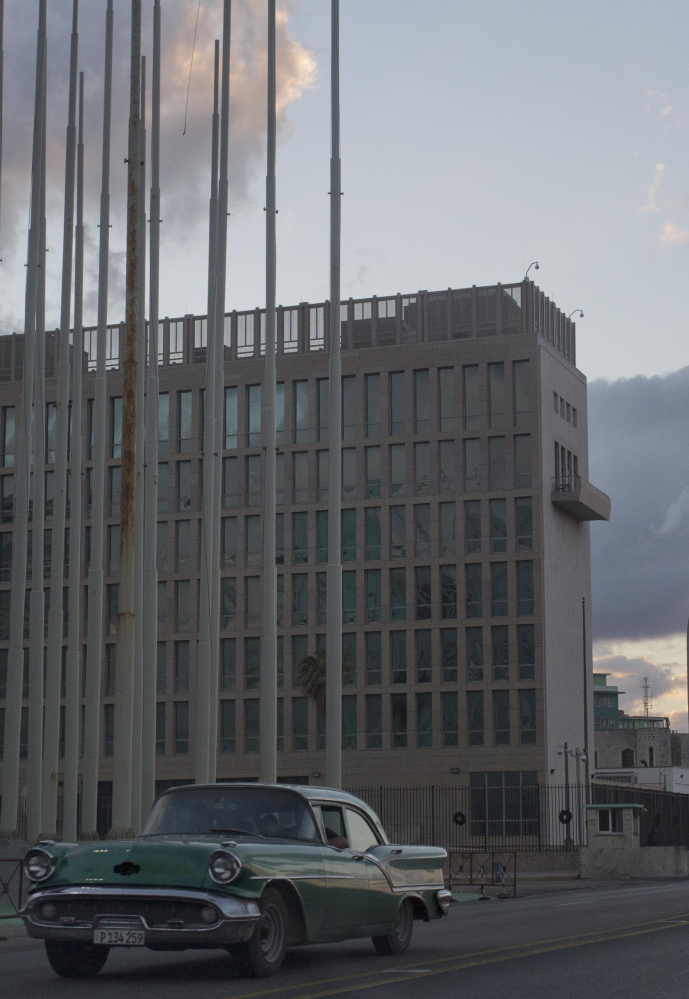 The U.S. Interests Section building in Havana will likely become an embassy if relations with Cuba are normalized.
