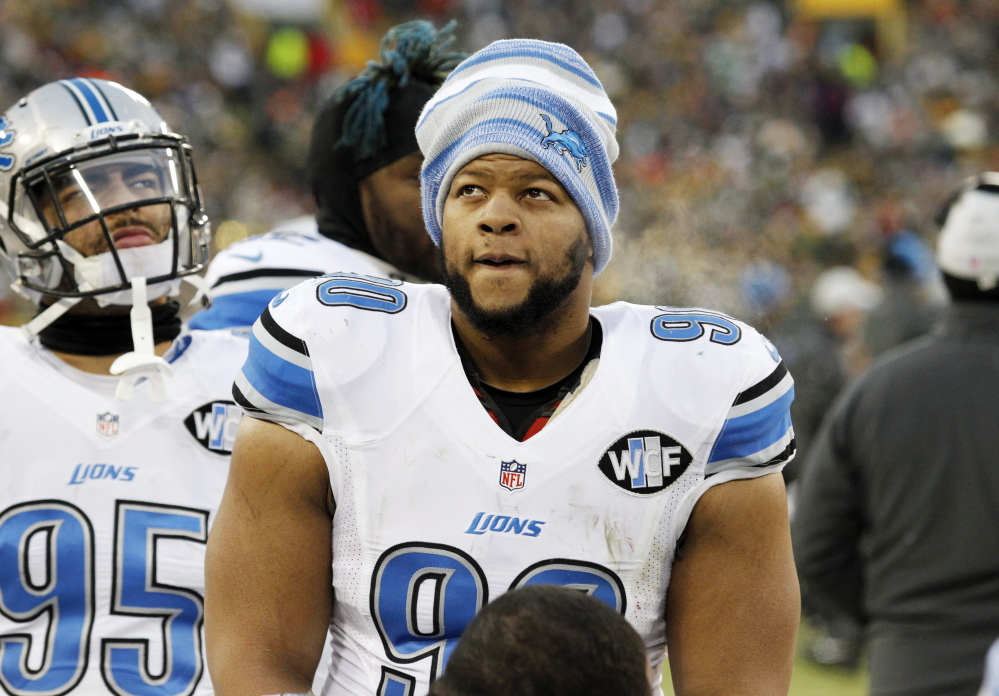 Ndamukong Suh was also suspended for two games in 2011 for stepping on the arm of Packers lineman Evan Dietrich-Smith. He has been fined seven times in his career. The Associated Press