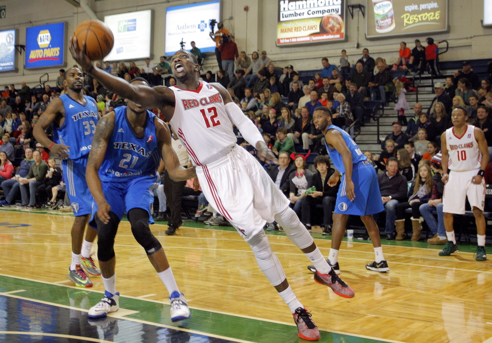 Jermaine Taylor of the Maine Red Claws takes a shot in the Portland Expo, which the team plans to renovate for next season.