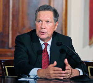 Ohio Gov. John Kasich has said he will keep trying to reduce the state's income tax, toward its elimination.