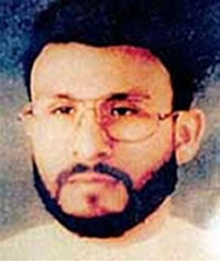 An undated photo provided by U.S. Central Command of Abu Zubaida, who was the CIA's guinea pig. He was the first high-profile al Qaida terror suspect captured after the Sept. 11 attacks and the first to vanish into the spy agency's secret prisons.