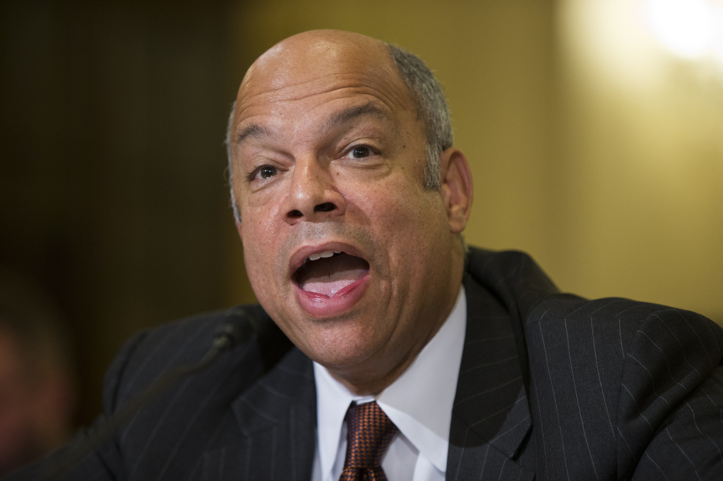 Homeland Security Secretary Jeh Johnson testifies Tuesday before a House Homeland Security Committee hearing on the impact of President Obama's executive action on immigration.