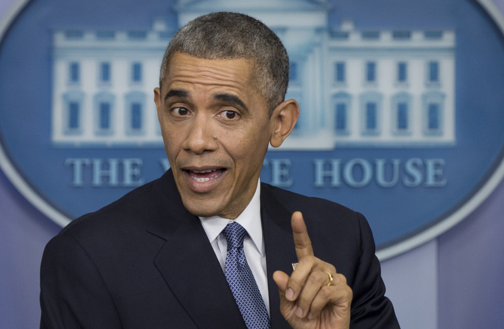 President Obama, seen at his year-end press conference Friday, began 2014 by declaring a