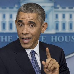 """President Obama, seen at his year-end press conference Friday, began 2014 by declaring a """"year of action,"""" vowing to strengthen the nation by focusing on fairness, competitiveness and the power of American diplomacy. Since Congress appeared unwilling to help, the president said, he would act alone."""