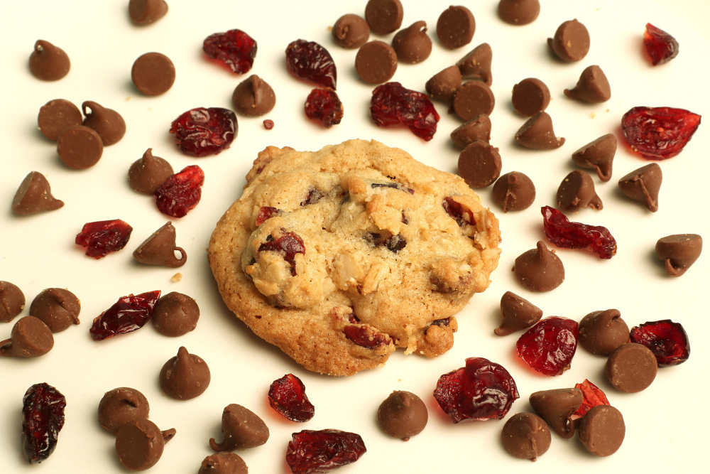 Cherry-Chocolate Chip Oatmeal Cookies