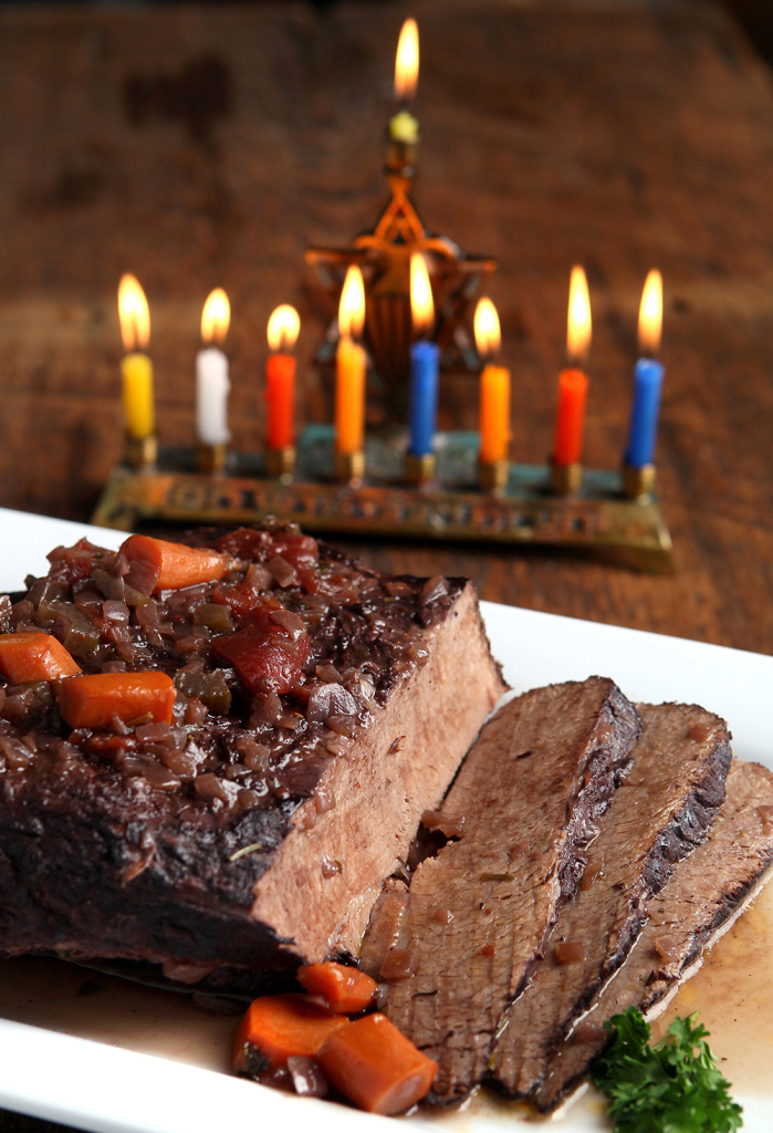 """""""Not Too Well"""" Stewed Brisket braised in red wine, onions, tomatoes and spices."""