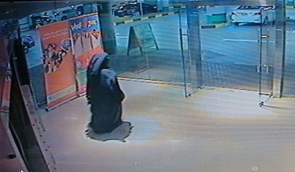 This screen grab of CCTV footage of the suspect was released by Abu Dhabi police.