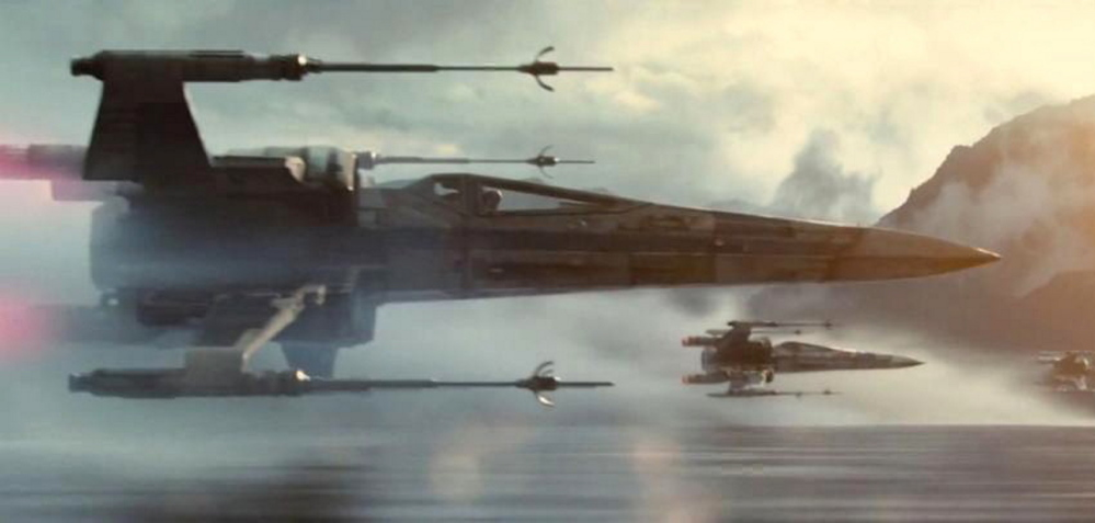 "The X-wing Starfighters will be back in action in ""The Force Awakens."" Daisy Ridley plays a new character named Rey."