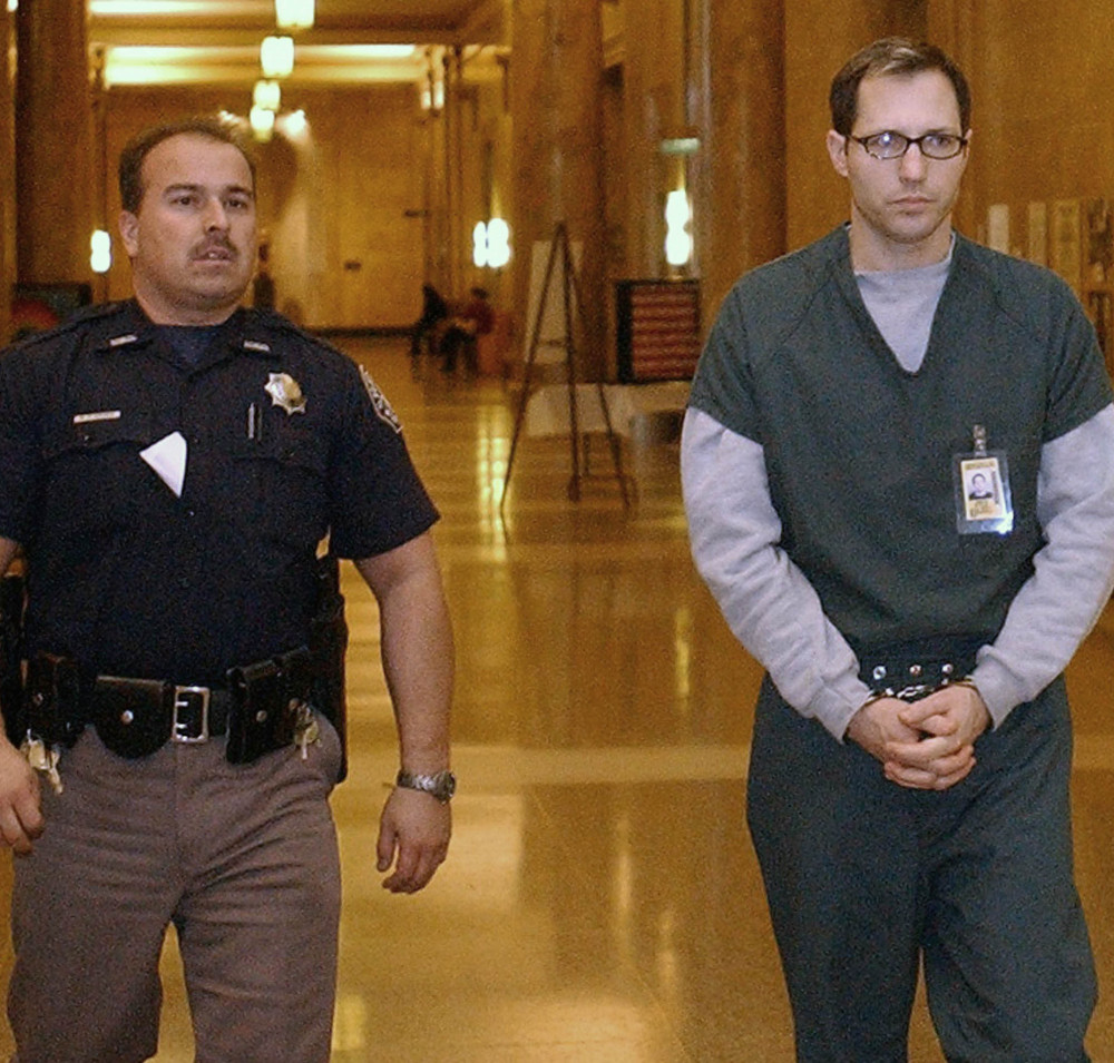 Kurt Sonnenfeld arrives to face a first-degree murder charge in the death of his wife in Denver in 2002. He took refuge in Argentina in 2003.