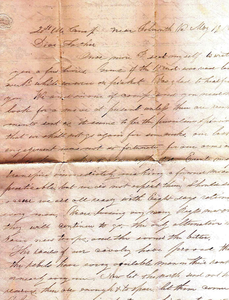 The Brown Memorial Library in Clinton has obtained copies of three letters written by Capt. Charles W. Billings of Clinton to his father during the Civil War.