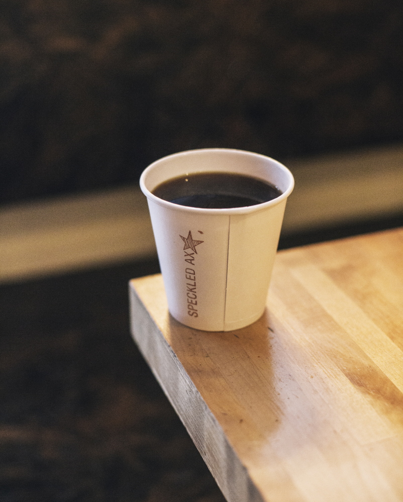 PORTLAND, ME - JANUARY 6: Costa Rican blend drip coffee at the Speckled Ax in Portland, ME on Tuesday, January 6, 2015. (Photo by Whitney Hayward/Staff Photographer)