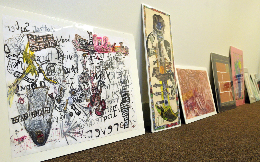 Art by people with disabilities will be part of the display commemorating the 25th anniversary of the Americans with Disabilities Act at the Michael Klahr Center on the campus of the University of Maine at Augusta, which opens next week.