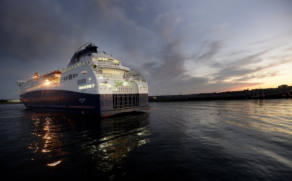 The Nova Star arrives in Portland last September. Operators of the ferry, which offered daily round-trip service between Portland and Yarmouth, Nova Scotia, from May to October during its debut last year, are adamant that the cruises will resume for a second season, but evidence to back up that commitment has yet to emerge.