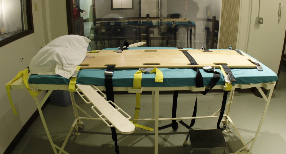 The execution chamber at the Washington State Penitentiary. Washington is observing a moratorium on executions for the same reasons that Maine should not introduce them.