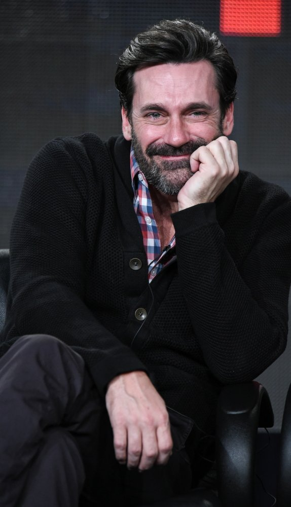 "Jon Hamm speaks to TV critics Friday. Of the cast, only Hamm knew the ""Mad Men"" ending in advance."