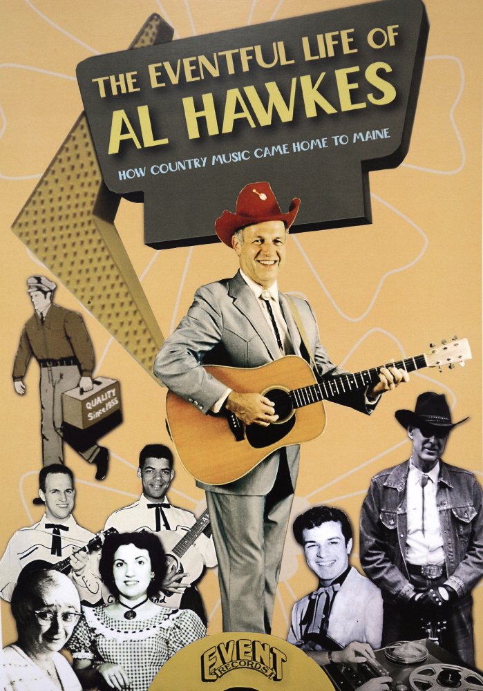 A vintage poster features Maine bluegrass pioneer Al Hawkes of Westbrook. John Patriquin/Staff Photographer