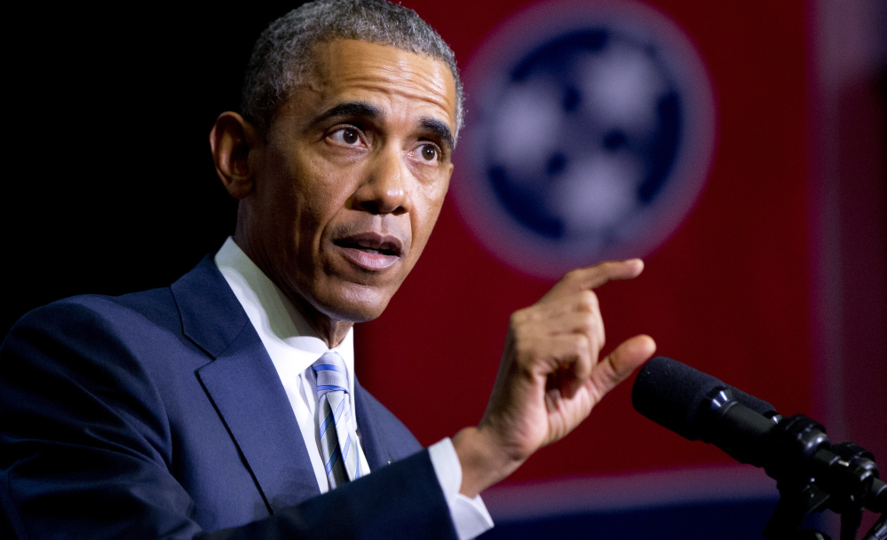 President Obama speaks in Tennessee last week about his proposal for a new state-federal initiative to help more Americans go to college at an affordable cost and get the skills they need to succeed.