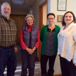 New members of the Good Food Council of Lewiston-Auburn include, from left, Rick Belanger, Bonnie Lounsbury, Melissa Emerson and Alisa Roman.