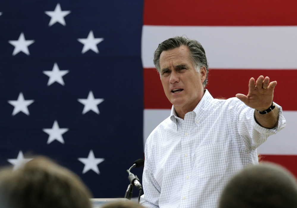 Mitt Romney last week told a small group of Republican donors that he's considering a third run at the White House.