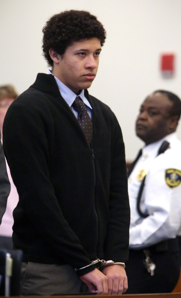 Philip Chism, 15, appears in Salem Superior Court in Salem, Mass., on Friday. He is charged with raping and killing his math teacher.