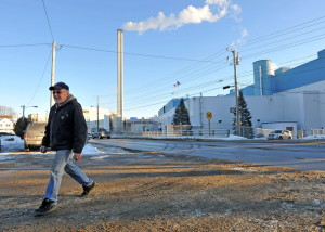 Mike Derocle, a 33-year employee of Madison Paper, leaves work Tuesday, the day the president of Madison Paper Industries announced the mill would be closing on Jan. 24 for two weeks because of high energy costs and foreign competition. Production is expected to resume Feb. 9. Michael G. Seamans/Morning Sentinel