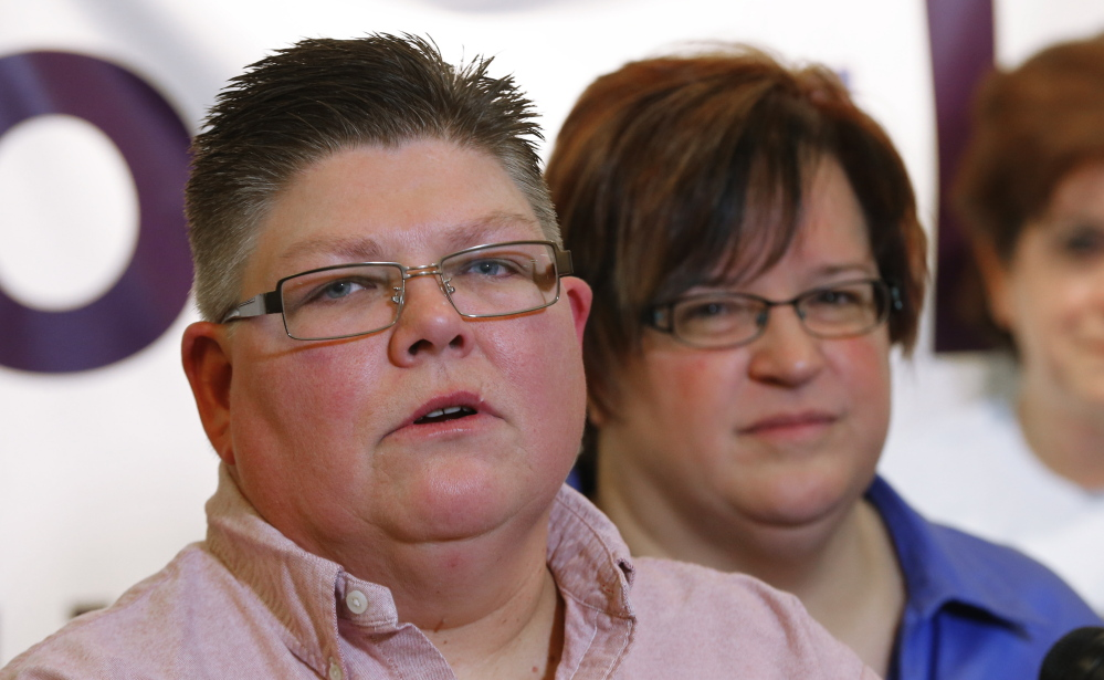 Jayne Rowse, left, and partner April DeBoer are the plaintiffs in Michigan's case.