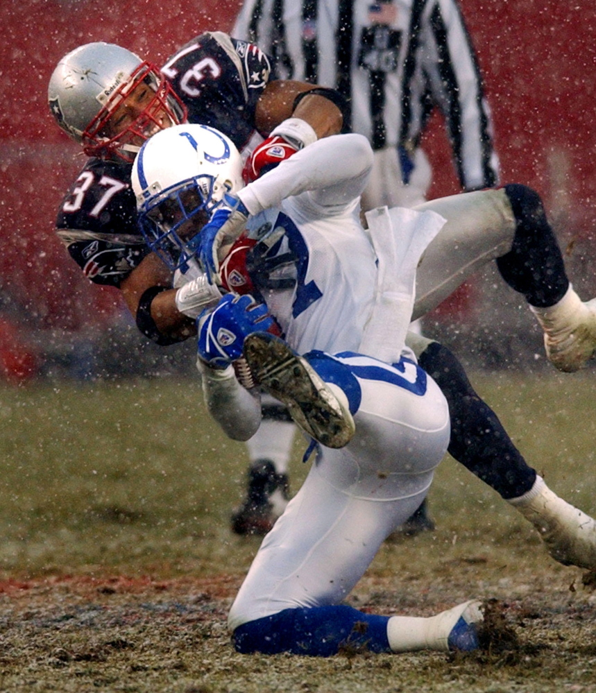 Rodney Harrison never will forget the AFC final in 2004, when he helped the Pats take down Reggie Wayne and Peyton Manning of the Colts. The Colts are back in 2015 and so is Wayne. The result? Check back Monday.