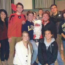 Members of the Sanford High School Key Club and Santa Claus just before winter break. The team had a busy first semester, participating in several fundraisers and events for the community.